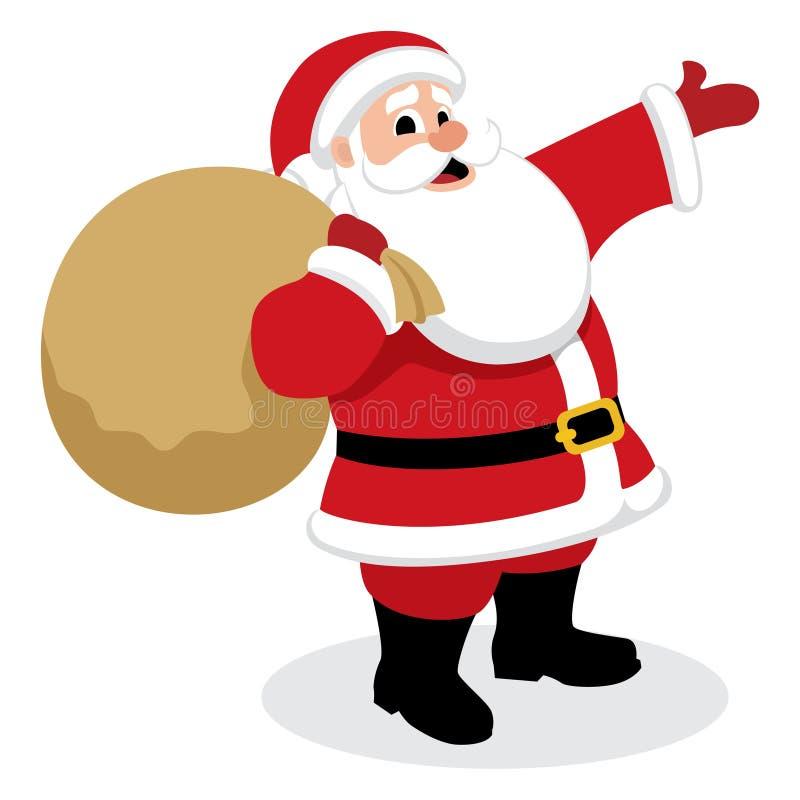 Presentes de Santa ilustração royalty free