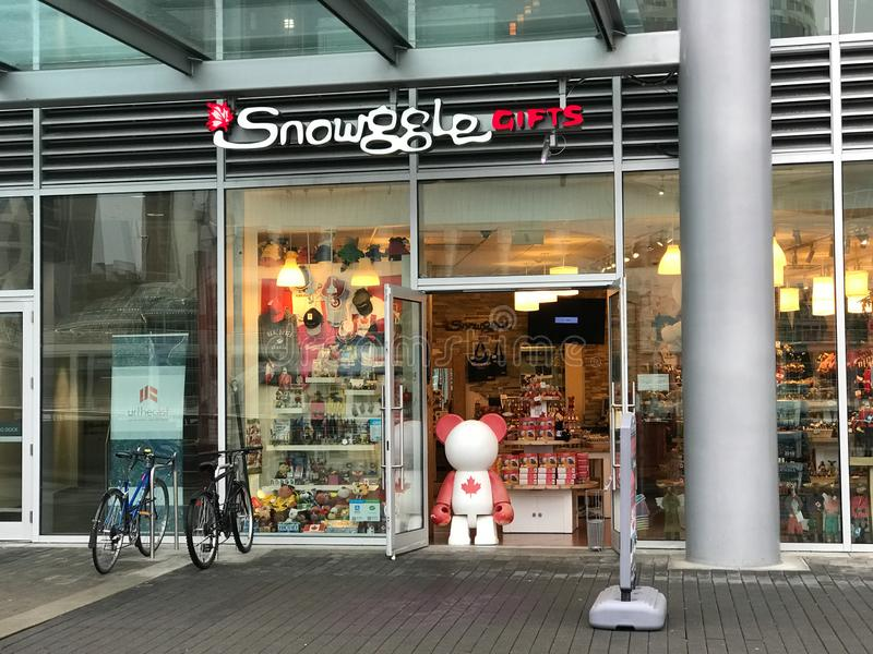 Presentes de Snowggle, Vancôver, BC imagem de stock royalty free