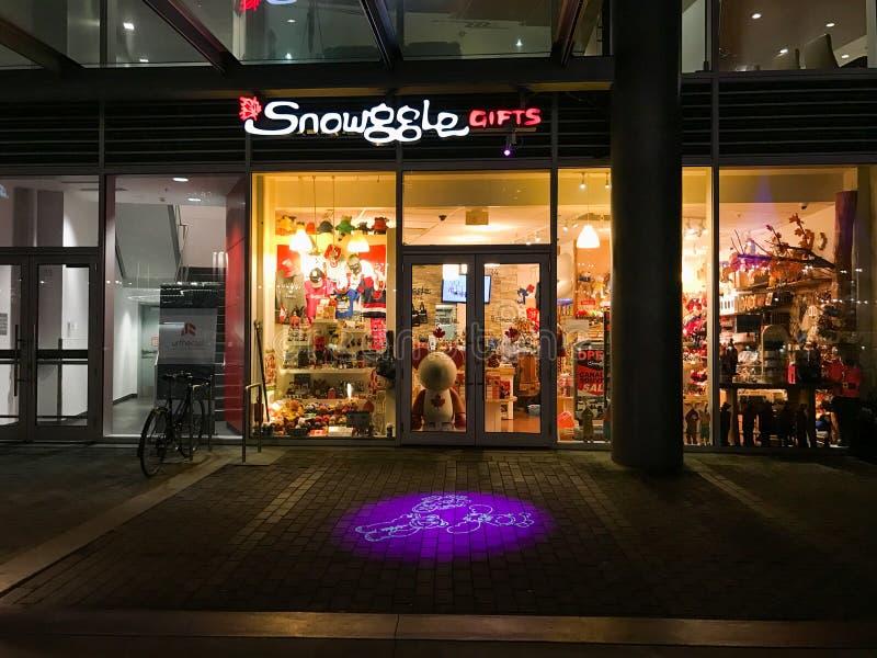 Presentes de Snowggle, Vancôver, BC fotos de stock