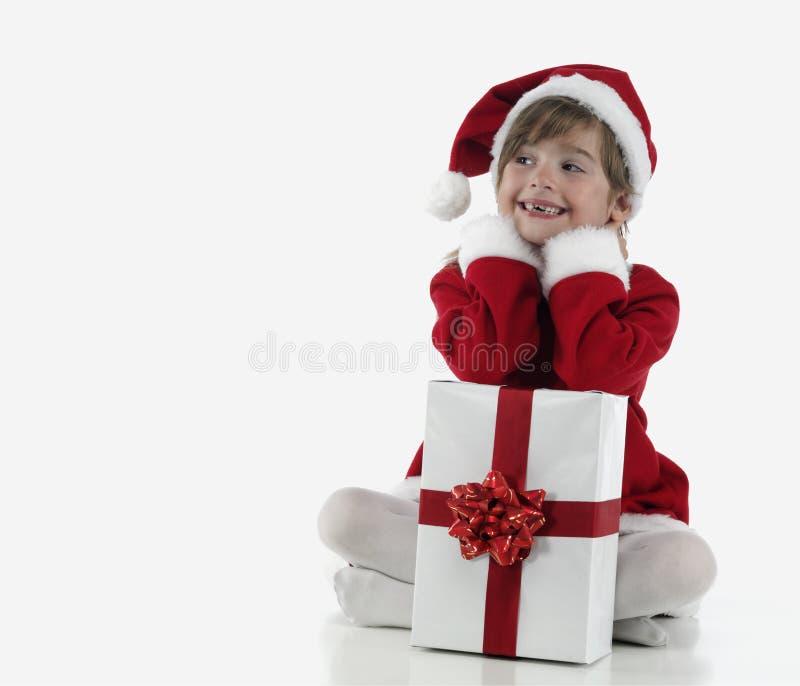 Download Presentes De Una Niña Y De Navidad Foto de archivo - Imagen de navidad, blanco: 7150446