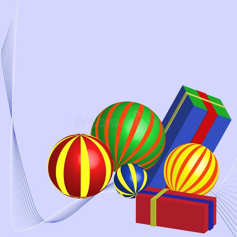 Presentes del día de fiesta stock de ilustración