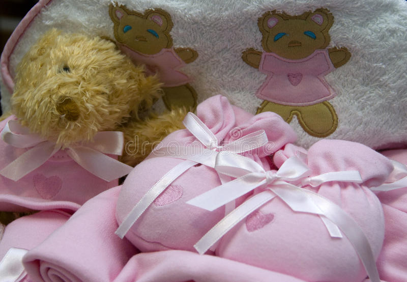 Presentes do bebé fotografia de stock