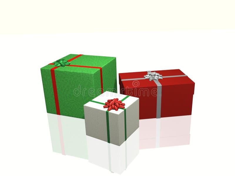 Presentes do Natal ilustração royalty free
