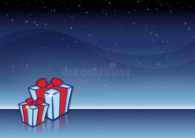 Presentes do Natal ilustração stock