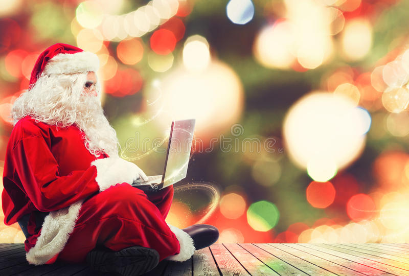 Presentes do Natal com Internet fotografia de stock royalty free