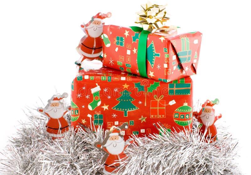 Presentes do Natal, composição dos presentes fotografia de stock royalty free