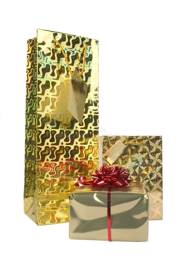 Presentes Do Ouro Imagens de Stock Royalty Free