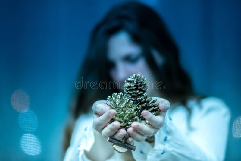 Presentes do solstício de inverno da deusa fotos de stock royalty free