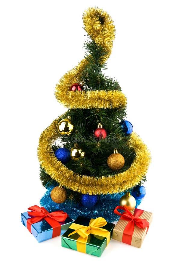 Presentes e decorações do Natal fotos de stock