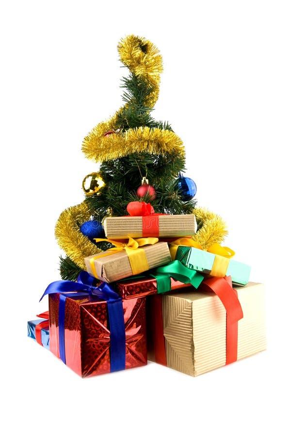 Presentes e decorações do Natal fotos de stock royalty free