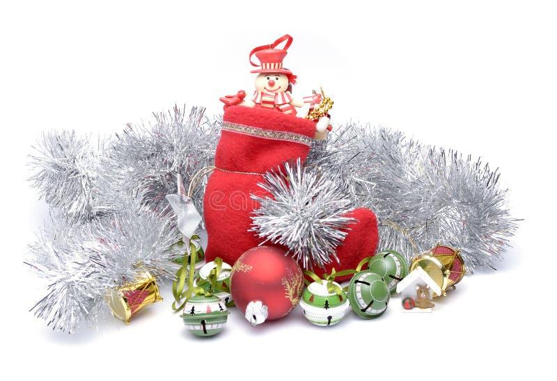 Presentes e decorações do Natal imagem de stock royalty free