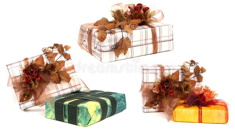 Presentes e presentes de Natal fotos de stock royalty free