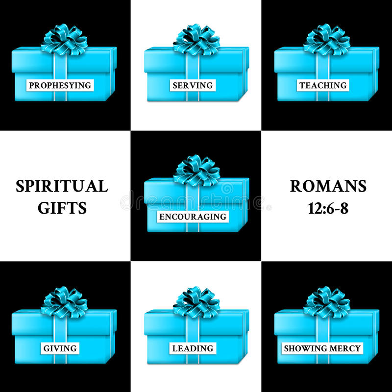 Presentes espirituais ilustração stock