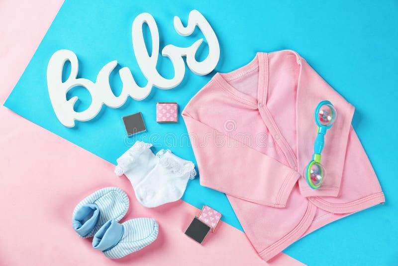 Presentes para a festa do bebê fotos de stock