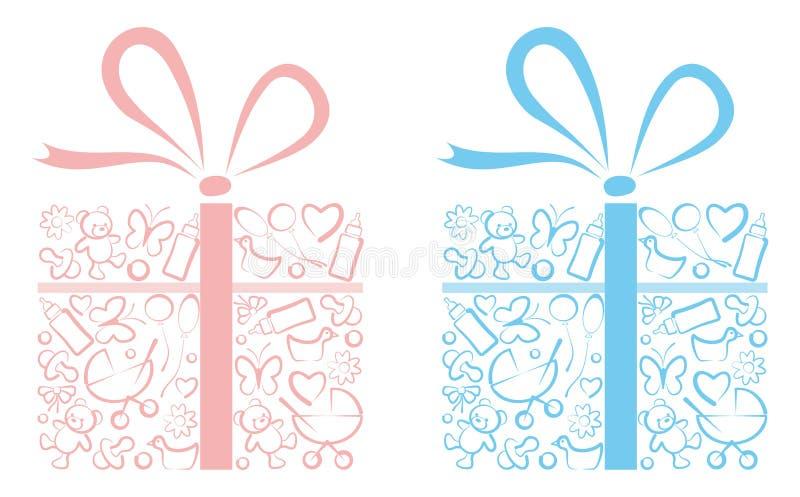Presentes para neonatos ilustração stock