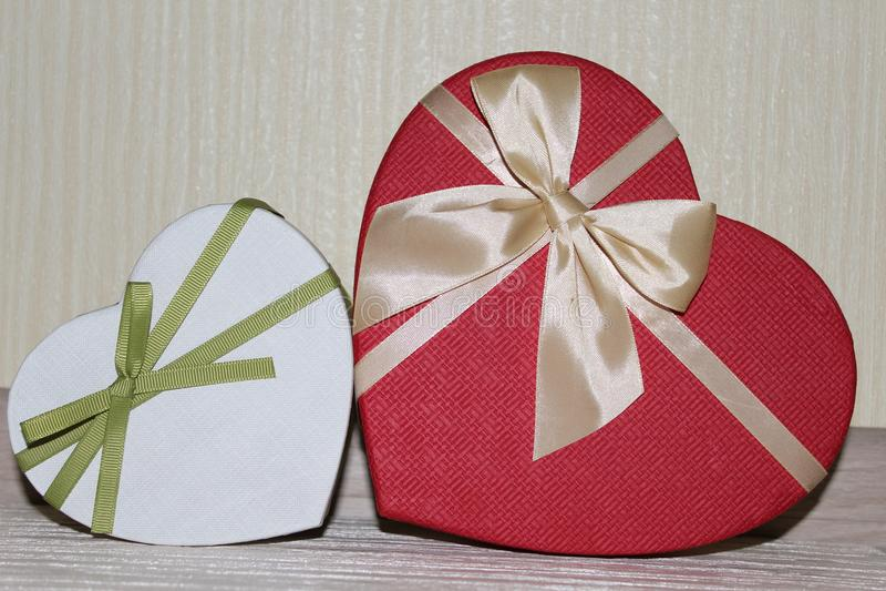 Presentes para o dia de Valentim imagem de stock royalty free