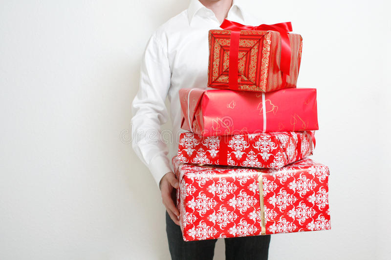 Download Presenting alot of gifts stock image. Image of giving - 10891367