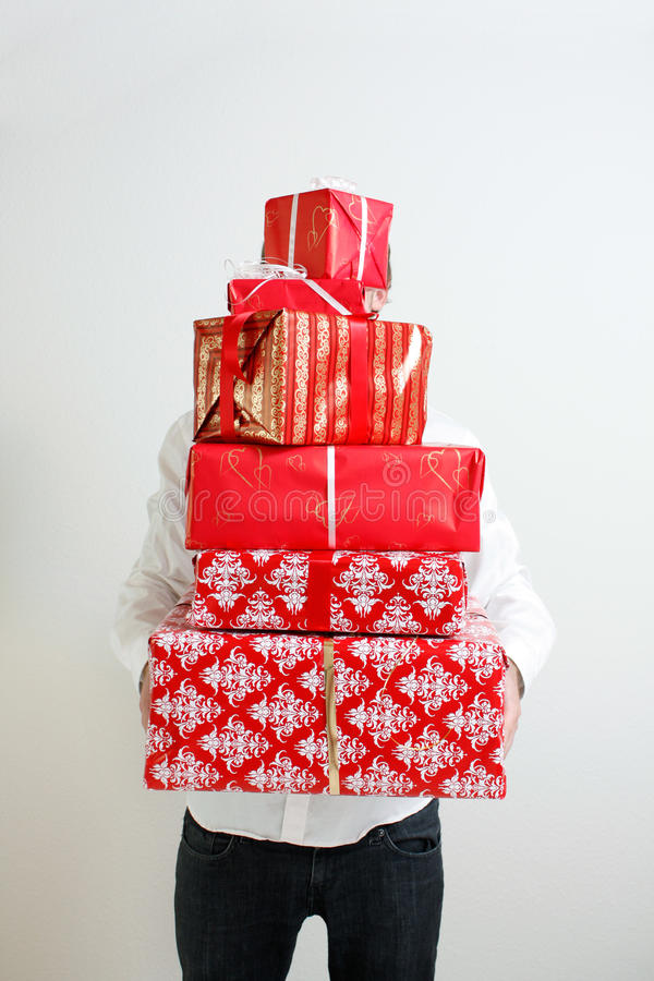 Download Presenting alot of gifts stock image. Image of presentation - 10891475