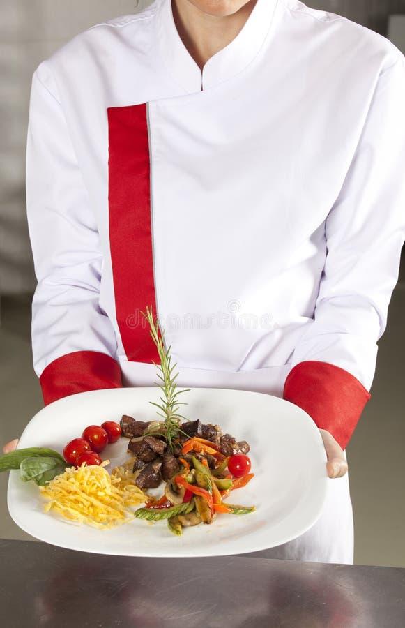 Presenting dish stock photography