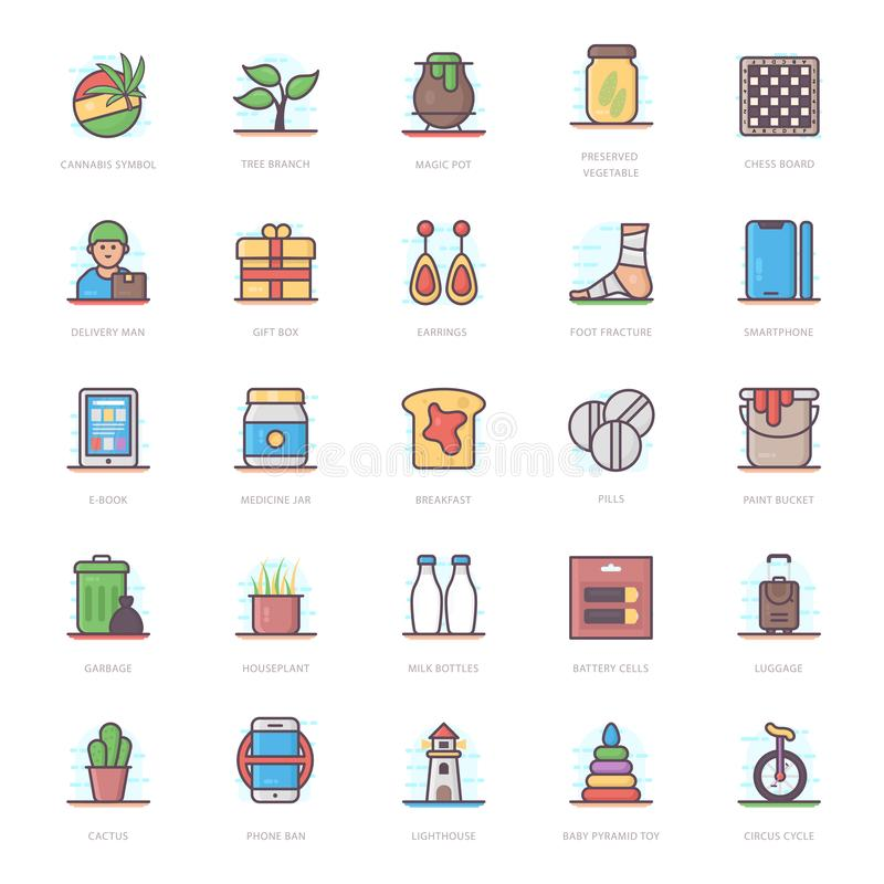 Medical Flat Icons Pack stock illustration