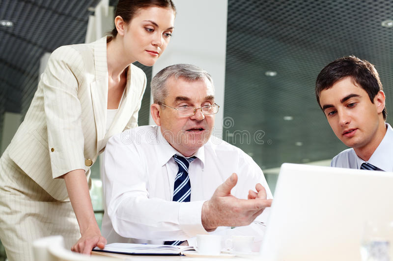Presenting Project Royalty Free Stock Photo