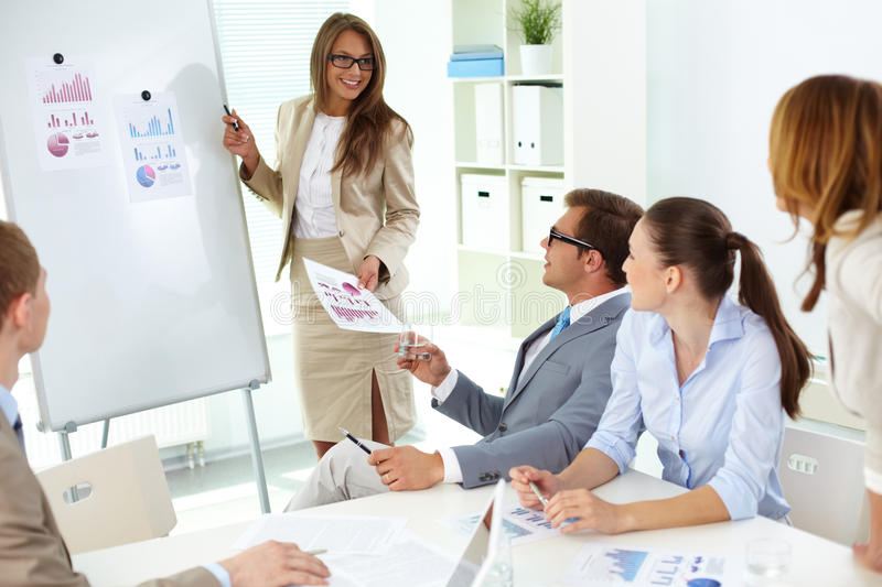 Download Presenting strategy stock image. Image of businesswoman - 27880439