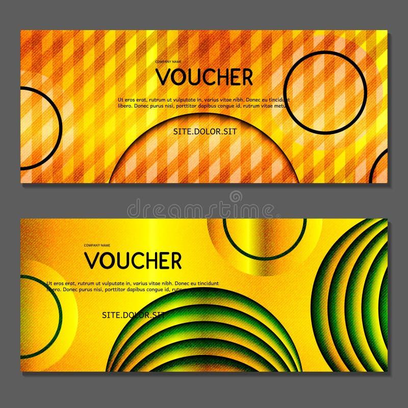 Presentkort Vektor illustration royaltyfri illustrationer