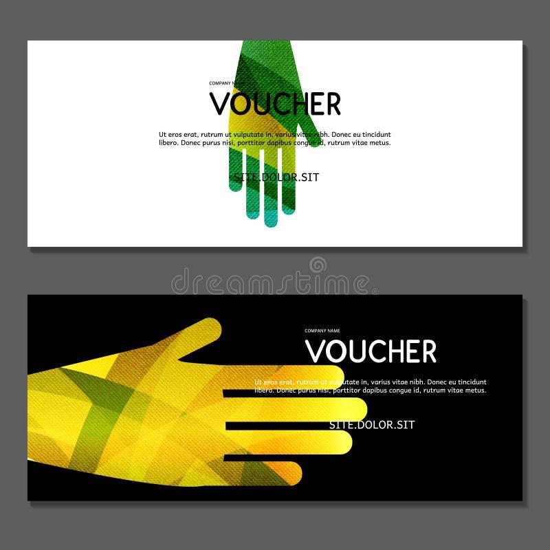 Presentkort Vektor illustration vektor illustrationer