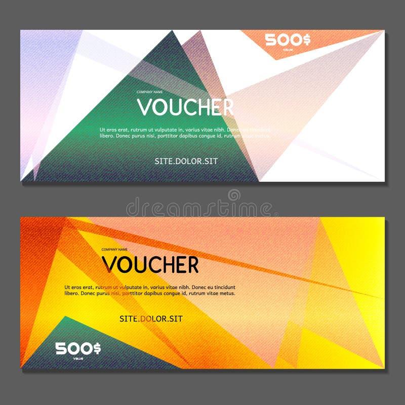 Presentkort Vektor illustration stock illustrationer