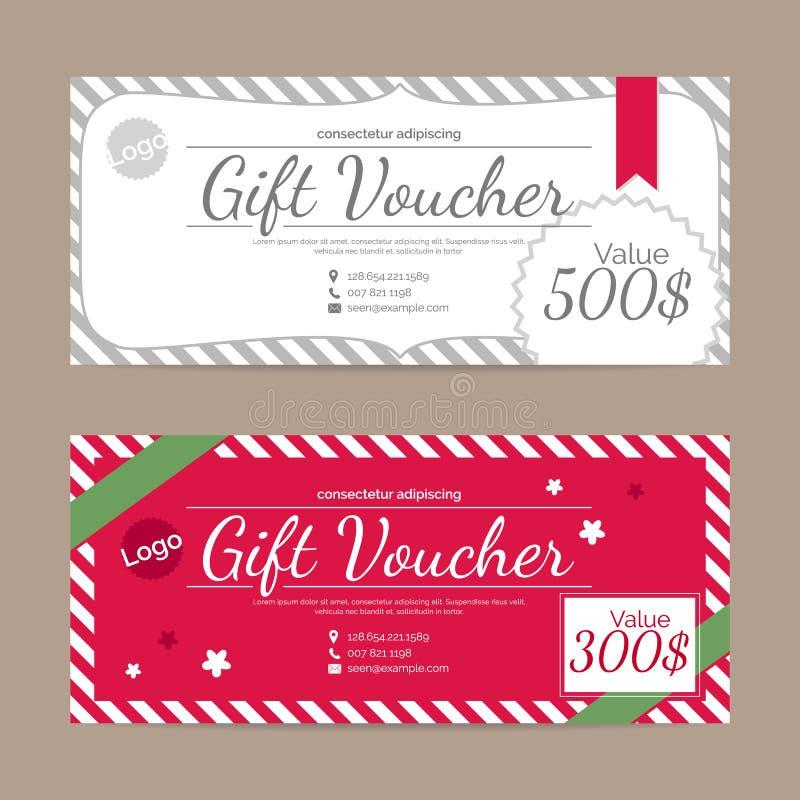 Presentkortmall stock illustrationer