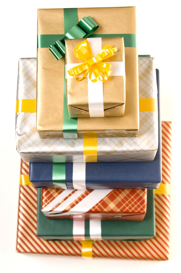 Download Presents 4 stock image. Image of wrapping, occasion, paper - 244639