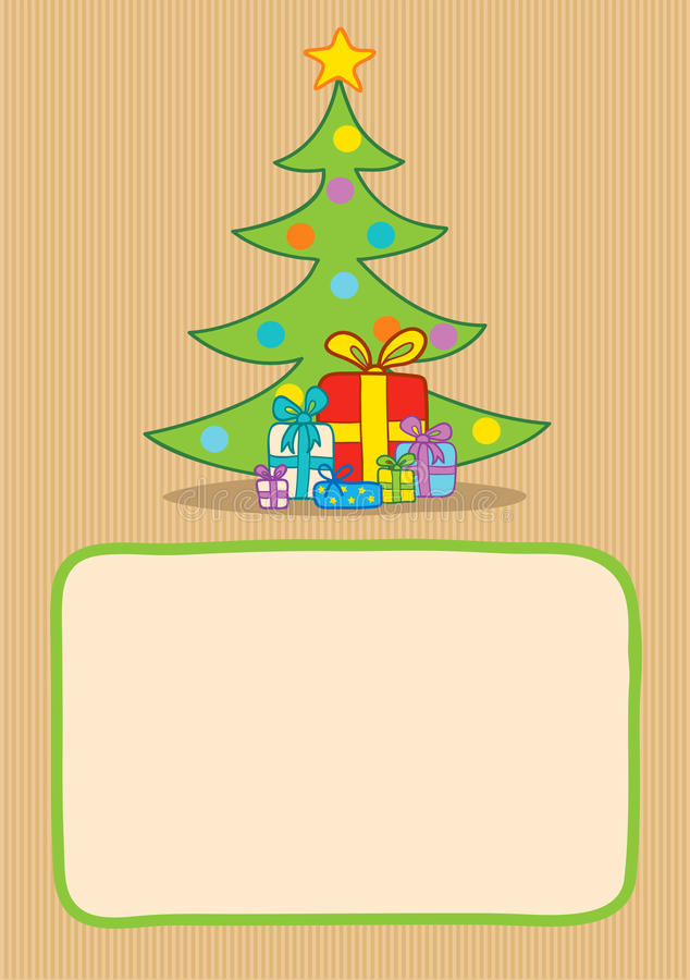 Download Presents And Christmas Tree Stock Vector - Image: 34005829
