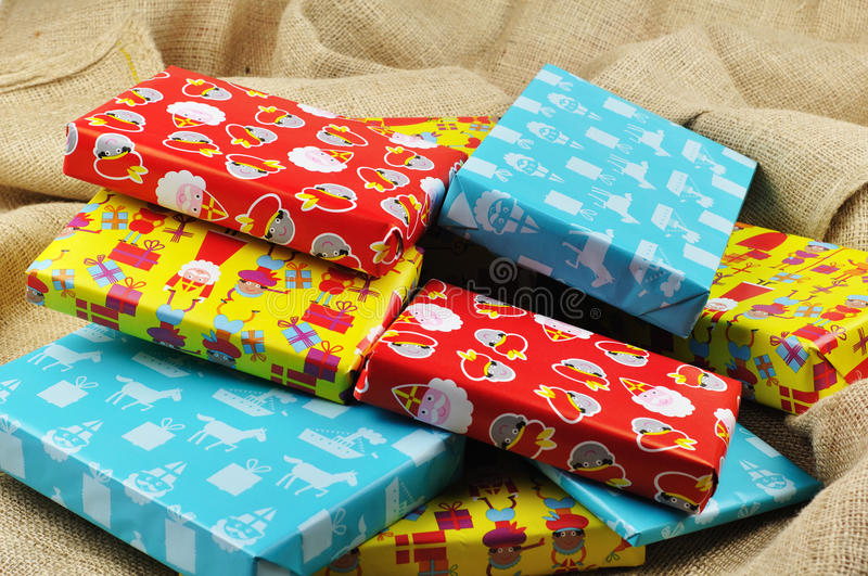 Presents for Sinterklaas royalty free stock images
