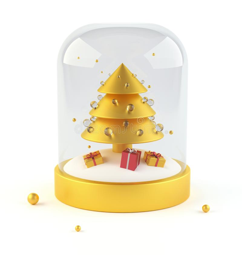 presentstree för jul 3d 3d framför stock illustrationer