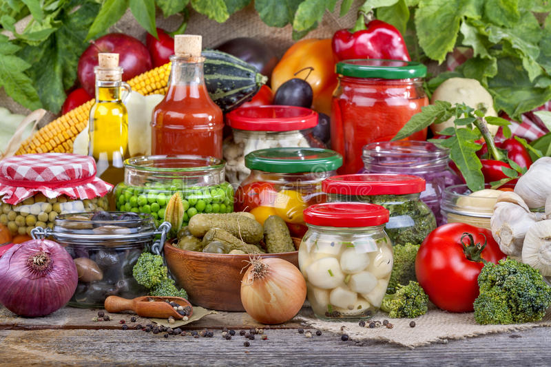 Preservação das frutas e legumes imagens de stock royalty free