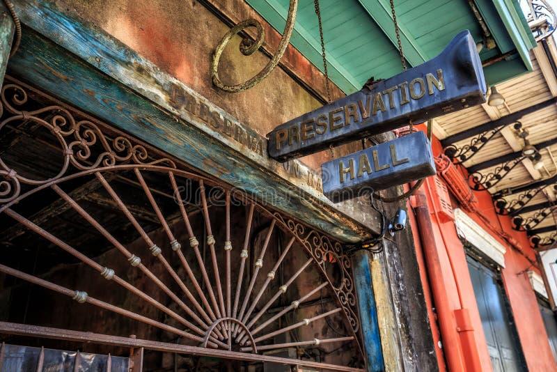 Preservação Salão em Nova Orleães fotografia de stock
