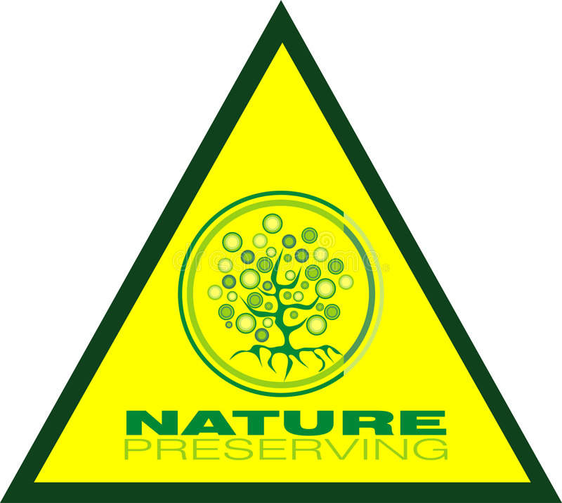 Preservating tree triangle icon stock image