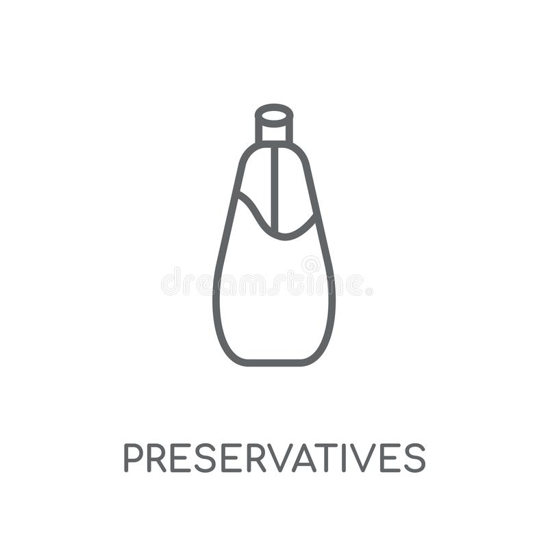 Preservatives linear icon. Modern outline Preservatives logo con vector illustration