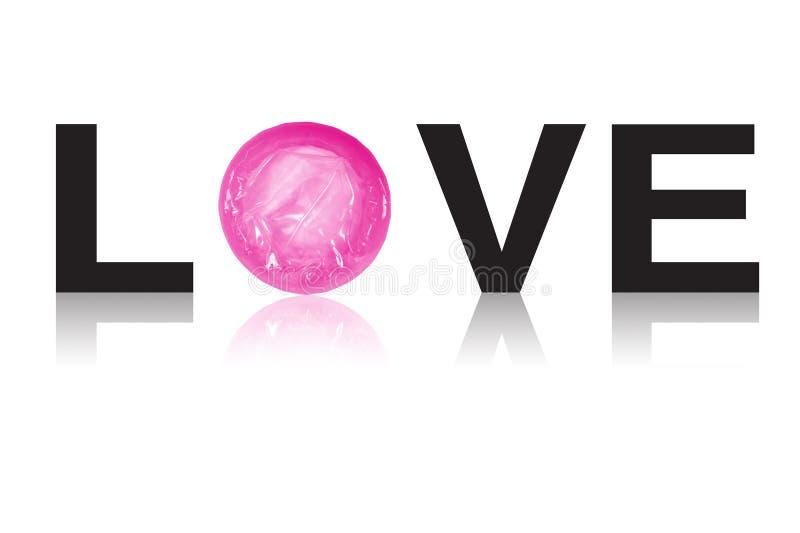Preservativo del amor fotografía de archivo libre de regalías