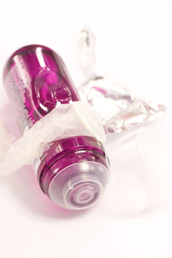 Preservativo e gel per il sesso sicuro fotografia stock