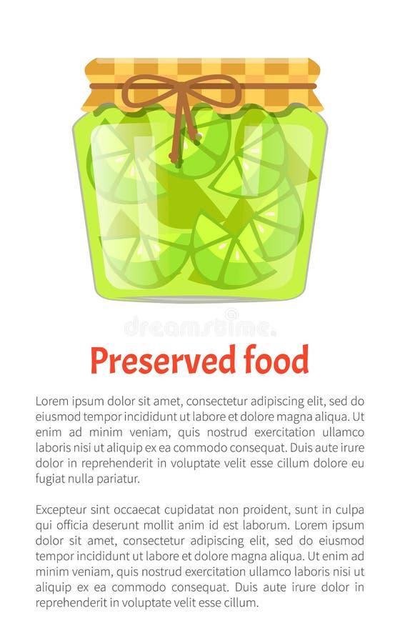 Preserved Food Poster Lime Lemon Home Cooked Jam royalty free illustration