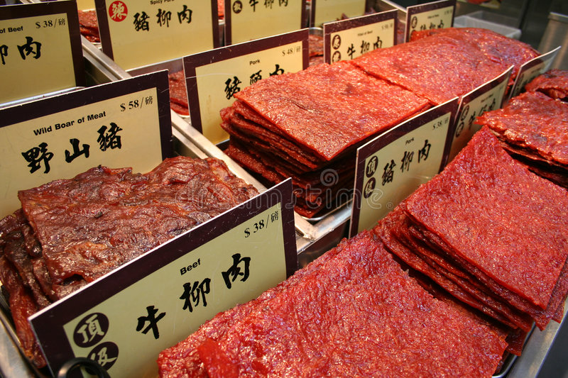 Preserved Meat royalty free stock image