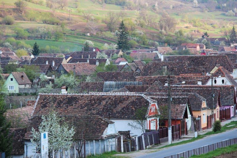 Village in Transylvania - Biertan, Romania stock photos