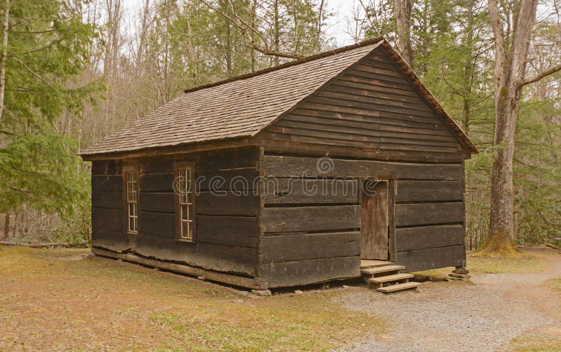 Preserved one-room school house in the wilderness royalty free stock photography