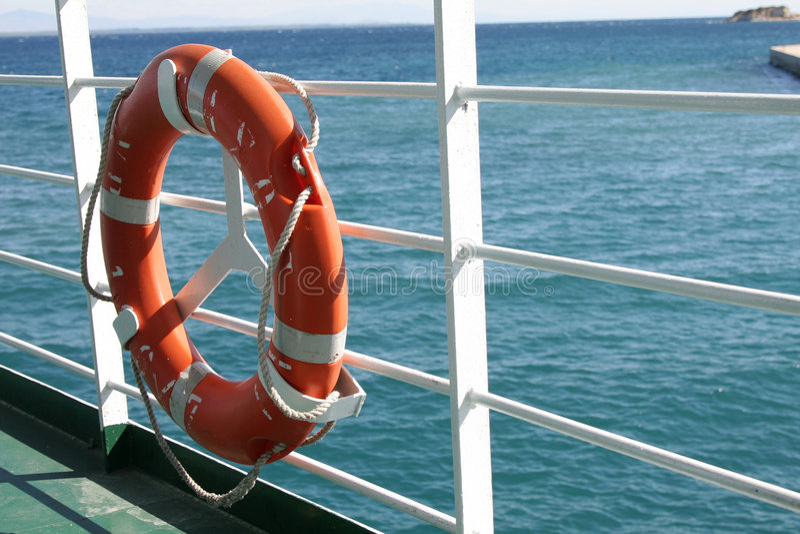 preserver för fartygfärjalivstid arkivfoto