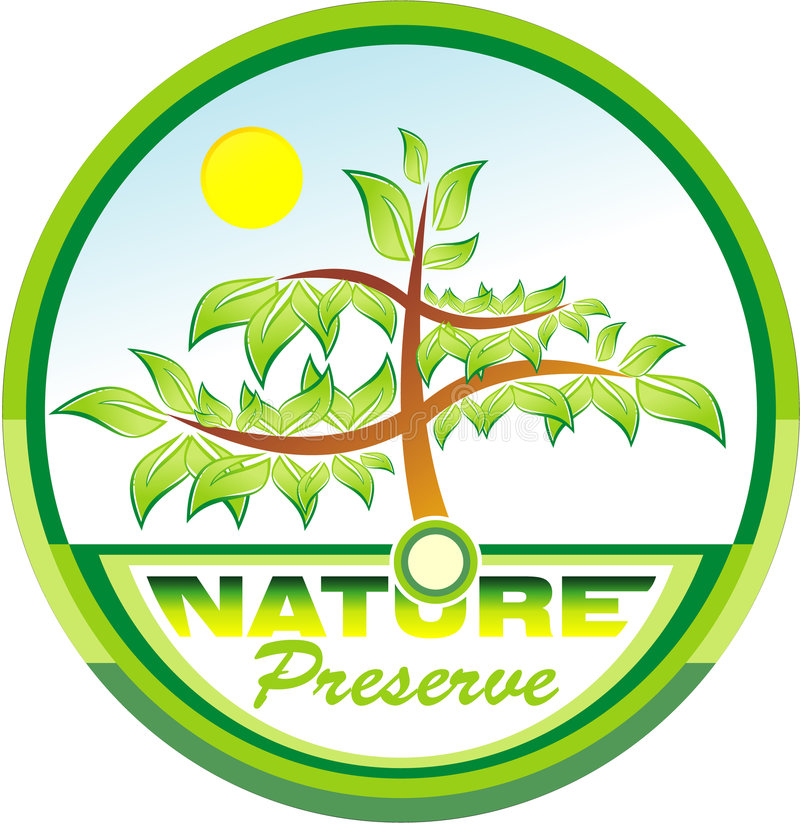 Preserving nature tree emblem royalty free stock images