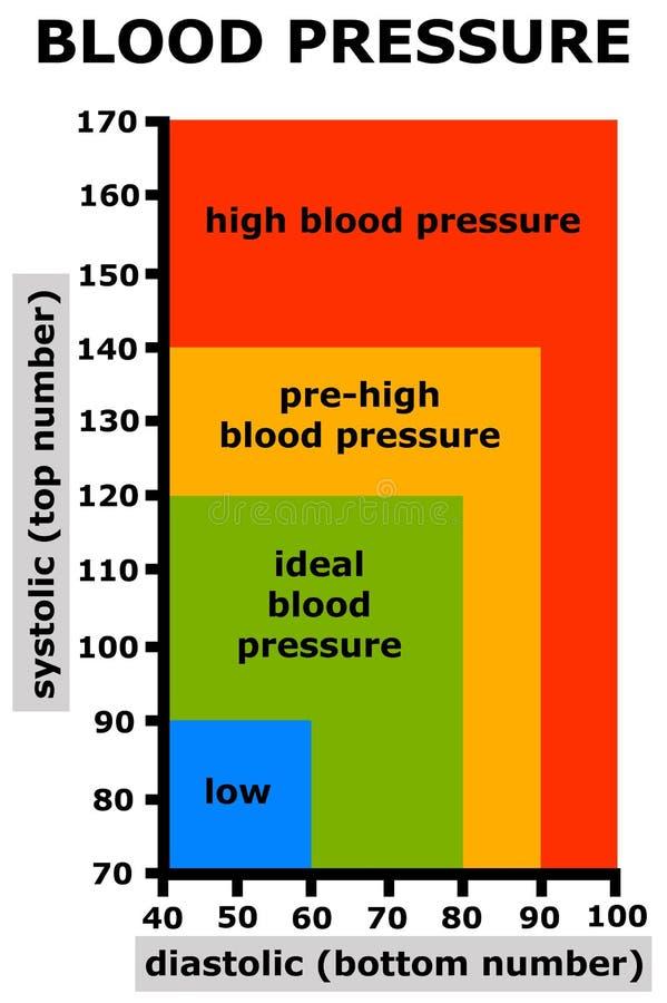 Presión arterial ilustración del vector