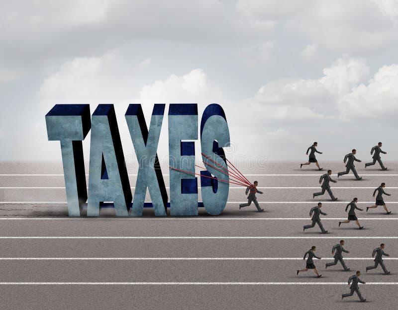 Presión fiscal ilustración del vector