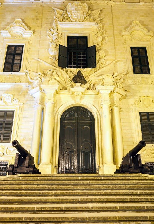Presidência do governo em Valletta imagem de stock royalty free