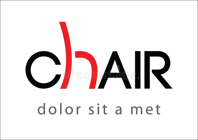 Presida el texto del logotipo y el icono simplemente rojo de la vista lateral libre illustration
